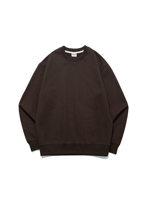 DAILY FIT SWEAT SHIRT_CLAY BROWN