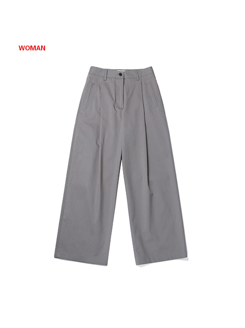 FRESH WIDE PANTS(for WOMAN)_GREY