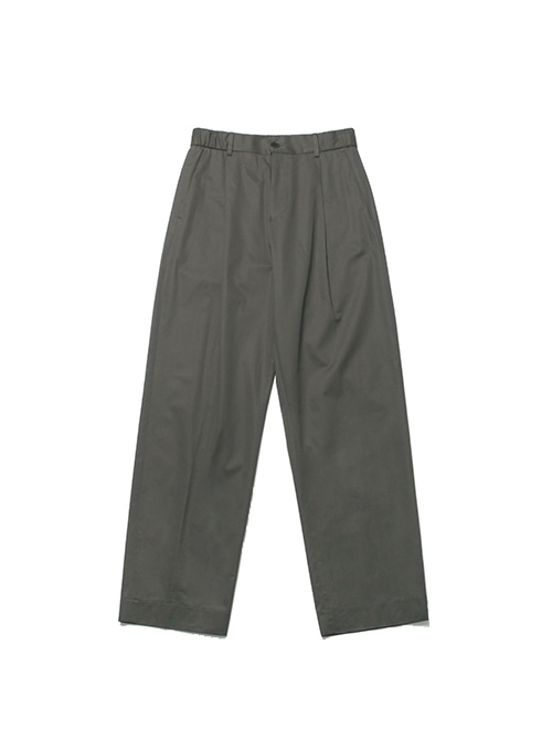 FINE DAY COTTON SLACKS_CHARCOAL BROWN