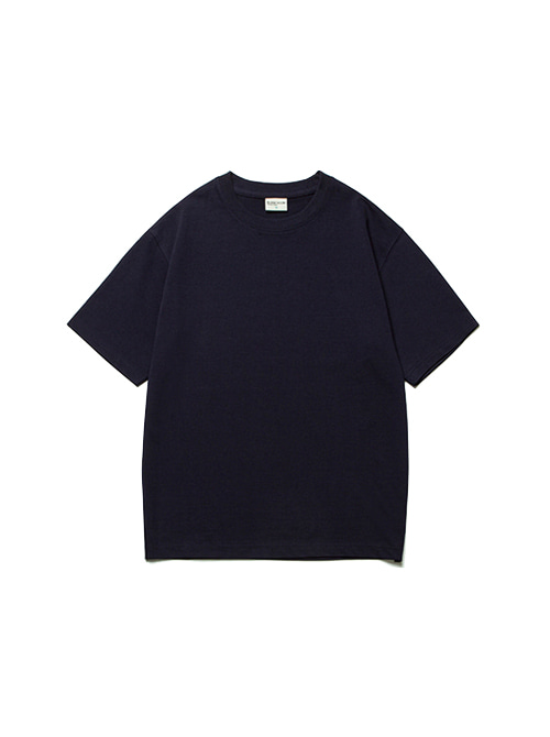 [4/20 예약배송]CONVINCE COTTON HALF TEE_DARK NAVY