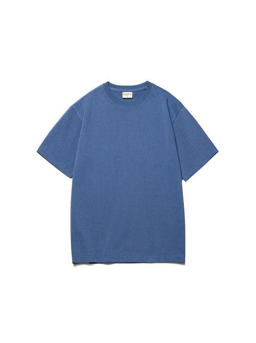 CONVINCE COTTON HALF TEE_STEEL BLUE