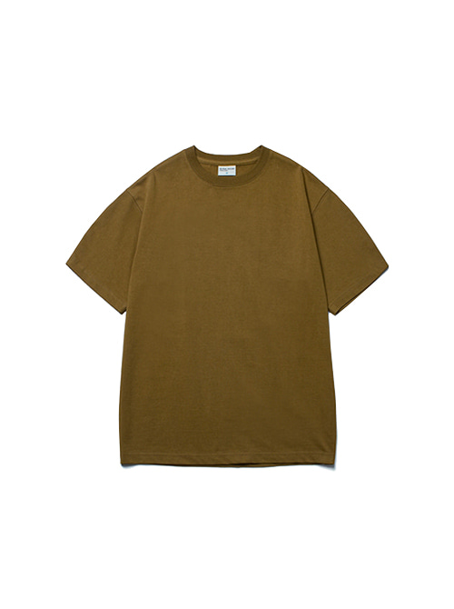 CONVINCE COTTON HALF TEE_SOIL BROWN