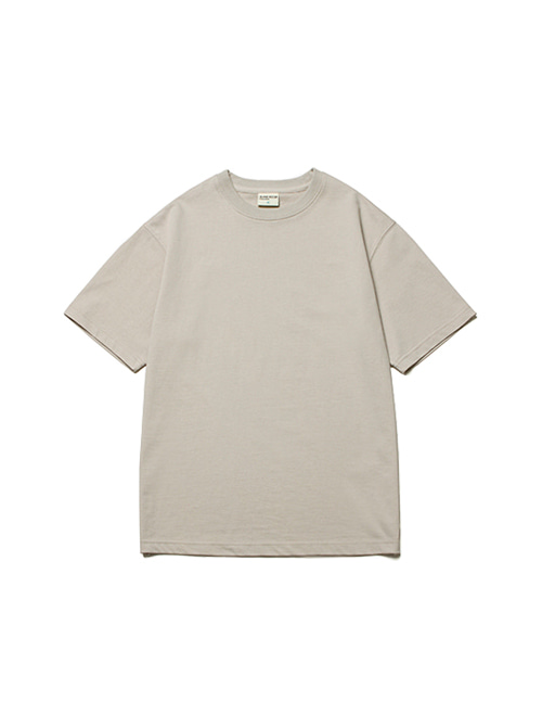 [4/20 예약배송]CONVINCE COTTON HALF TEE_LIGHT GREY