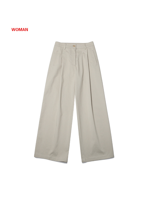 FRESH WIDE PANTS(for WOMAN)_BEIGE